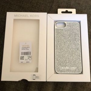 Michael Kors IPhone 7 & 8 Case Rhinestone Silver